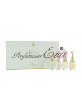 Christian Dior Jadore, Mini set - 4x miniatúrka - Cologne florale 4 ml, Eau de toilette 4 ml, Eau de parfum 5 ml, Eau de parfum absolue 5 ml