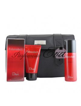 Christian Dior Fahrenheit SET: Toaletná voda 50ml + Sprchový gél 50ml + Deodorant 50ml + Kozmetická taška