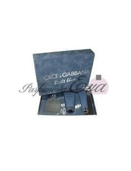 Dolce & Gabbana Light Blue Pour Homme, Edt 125 ml + 75ml balsam po holeni + 50ml sprchový gel