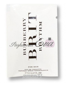 Burberry Brit Rhythm for woman, Vzorka vone